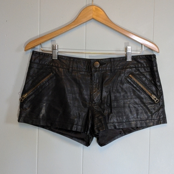 Free People Pants - Free People Leather Shorts